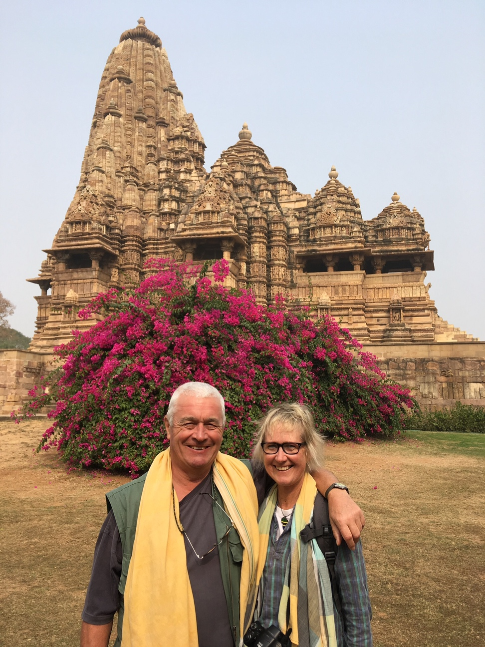 James and Cate Khajuraho