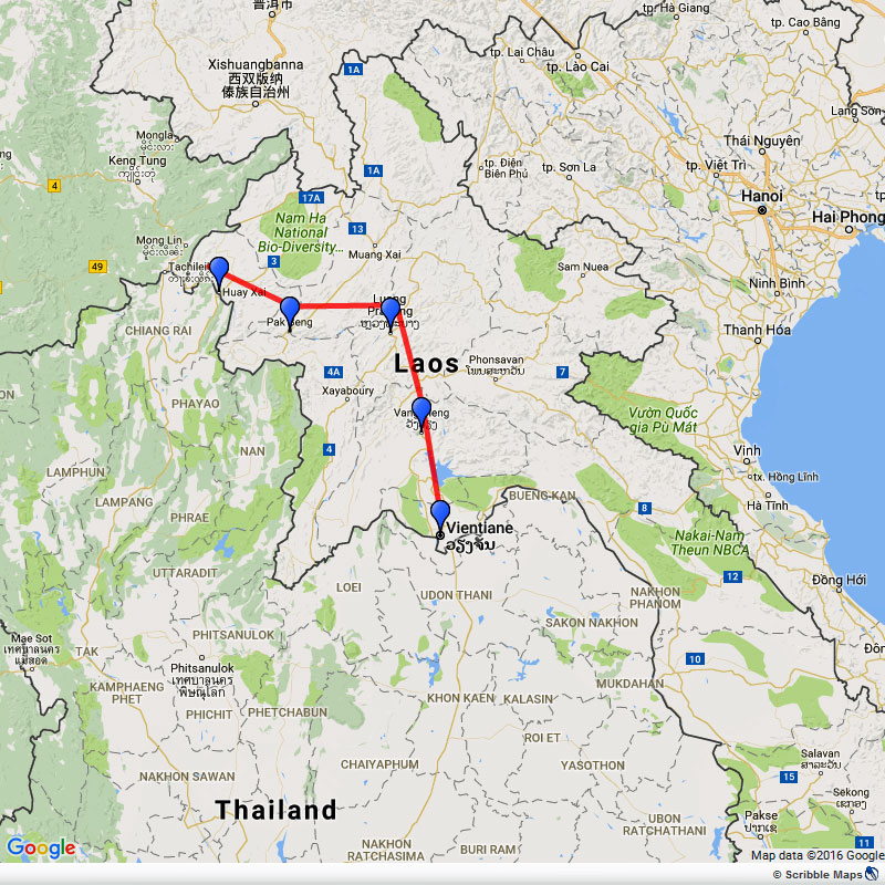Overland tour from Laos to Thailand Image 1