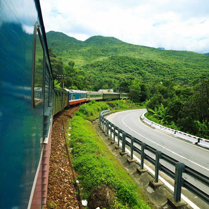 Reunification Express train from South to North Vietnam Image 7