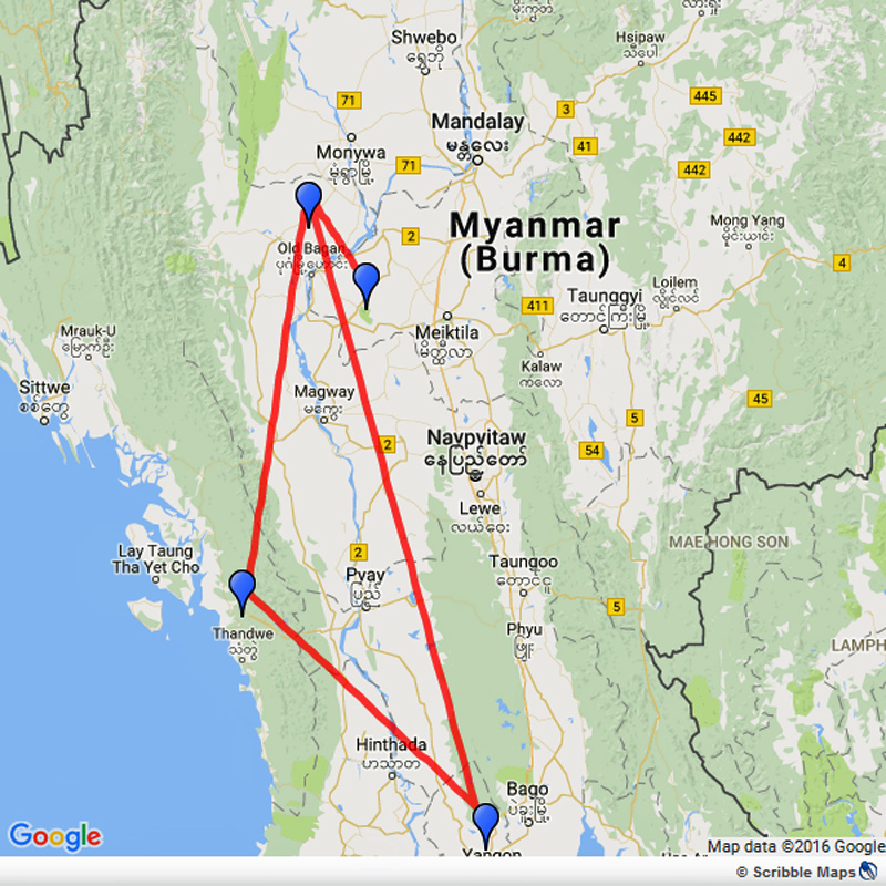 Temples and Beaches of Myanmar Image 1