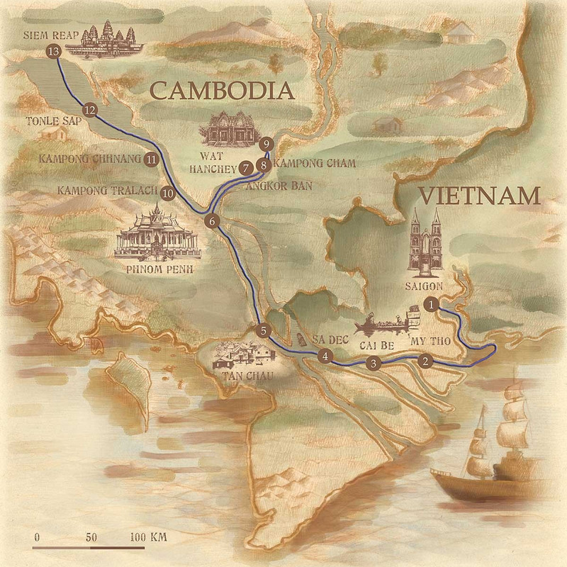 The Lost Civilisation: a cruise on the Mekong with Jayavarma ... Image 1